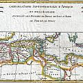 1780 Raynal And Bonne Map Of The Barbary Coast Of Northern Africa by Paul Fearn