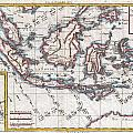 1780 Raynal And Bonne Map Of The East Indies Singapore Java Sumatra Borneo by Paul Fearn
