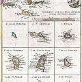 1780 Raynal And Bonne Map Of The Virgin Islands And Antilles West Indies by Paul Fearn