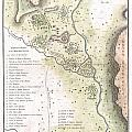 1783 Bocage Map Of The Topography Of Sparta Ancient Greece And Environs by Paul Fearn