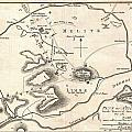1784 Bocage Map Of Athens Greece by Paul Fearn