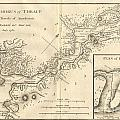 1784 Bocage Map Of The Bosphorus And The City Of Byzantium  Istanbul  Constantinople by Paul Fearn