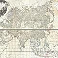 1784 D Anville Wall Map Of Asia by Paul Fearn