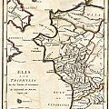 1786 Bocage Map Of Elis And Triphylia In Ancient Greece  by Paul Fearn