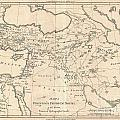 1787 Bonne Map Of The Dispersal Of The Sons Of Noah by Paul Fearn
