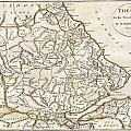 1788 Bocage Map Of Thessaly In Ancient Greece by Paul Fearn