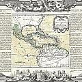 1788 Brion De La Tour Map Of Mexico Central America And The West Indies by Paul Fearn