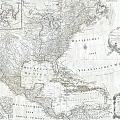 1788 Schraembl  Pownall Map Of North America And The West Indies by Paul Fearn