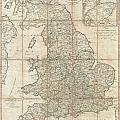 1790 Faden Map Of The Roads Of Great Britain Or England by Paul Fearn