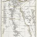 1794 Anville Map Of Ancient Egypt  by Paul Fearn