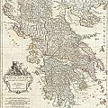1794 Anville Map Of Ancient Greece  by Paul Fearn