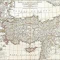 1794 Anville Map Of Asia Minor In Antiquity by Paul Fearn
