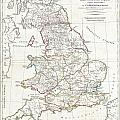 1794 Anville Map Of England In Ancient Roman Times by Paul Fearn