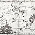 1798 Cassini Map Of Alaska And The Bering Strait by Paul Fearn