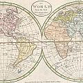 1798 Payne Map Of The World  by Paul Fearn