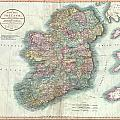 1799 Cary Map Of Ireland  by Paul Fearn