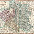 1799 Cary Map Of Poland Prussia And Lithuania  by Paul Fearn