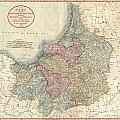 1799 Cary Map Of Prussia And Lithuania  by Paul Fearn