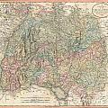 1799 Cary Map Of Swabia Germany by Paul Fearn