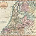1799 Cary Map Of The Netherlands by Paul Fearn
