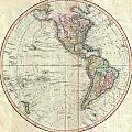 1799 Cary Map Of The Western Hemisphere  by Paul Fearn