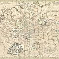 1799 Celement Cruttwell Map Of Germany by Paul Fearn