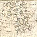 1799 Clement Cruttwell Map Of Africa  by Paul Fearn