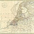 1799 Clement Cruttwell Map Of Holland Or The Netherlands by Paul Fearn