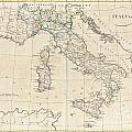 1799 Clement Cruttwell Map Of Italy by Paul Fearn