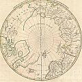 1799 Clement Cruttwell Map Of North Pole by Paul Fearn