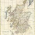 1799 Clement Cruttwell Map Of Scotland by Paul Fearn