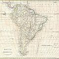1799 Clement Cruttwell Map Of South America  by Paul Fearn
