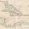 1799 Clement Cruttwell Map Of West Indies by Paul Fearn