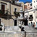 Another View Of An Old Unused Fountain In Taormina Sicily by Richard Rosenshein