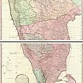 1800 Faden Rennell Wall Map Of India by Paul Fearn