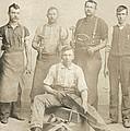 1800's Vintage Photo Of Blacksmiths by Charles Beeler