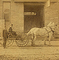 1800's Vintage Photo Of Horse Drawn Carriage by Charles Beeler