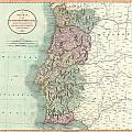1801 Cary Map Of Portugal by Paul Fearn