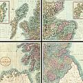 1801 Cary Map Of Scotland  by Paul Fearn