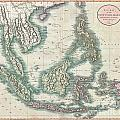 1801 Cary Map Of The East Indies And Southeast Asia  Singapore Borneo Sumatra Java Philippines by Paul Fearn