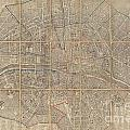 1802 Chez Jean Map Of Paris In 12 Municipalities France by Paul Fearn