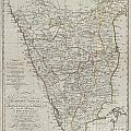 1804 German Edition Of The Rennel Map Of India by Paul Fearn
