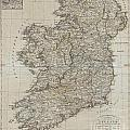 1804 Jeffreys And Kitchin Map Of Ireland by Paul Fearn