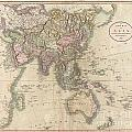 1806 Cary Map Of Asia Polynesia And Australia by Paul Fearn