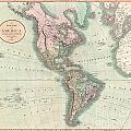 1806 Cary Map Of The Western Hemisphere  North America And South America by Paul Fearn