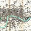 1806 Mogg Pocket Or Case Map Of London by Paul Fearn