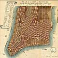 1807 Bridges Map Of New York City by Paul Fearn