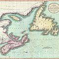 1807 Cary Map Of Nova Scotia And Newfoundland by Paul Fearn