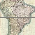 1807 Cary Map Of South America by Paul Fearn