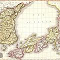 1809 Pinkerton Map Of Korea And Japan by Paul Fearn
